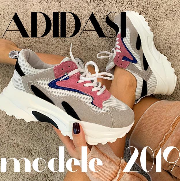 Adidasi dama 2019 ieftini noi, cu talpa de silicon, talpa groasa, cu platforma