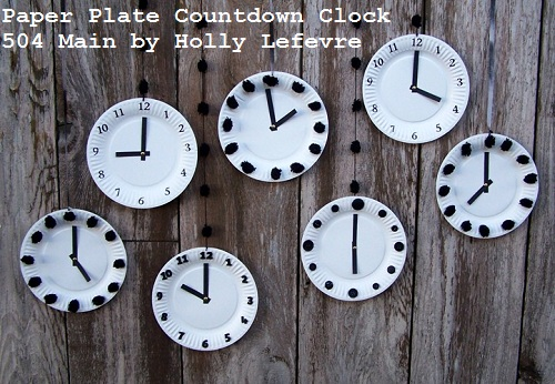 Paper plate countdown clocks for new years