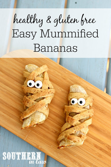 Easy Healthy Halloween Treats - Mummified Bananas - Gluten Free, Refined Sugar Free, Clean Eating Recipe, Nut Free, Egg Free, Allergy Friendly Halloween