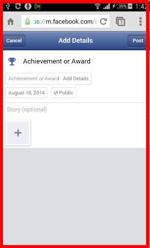 how to create a life event on facebook app