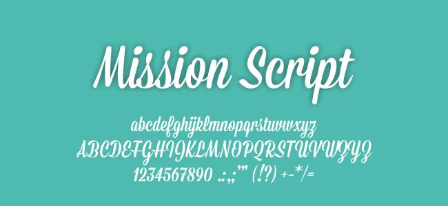 Kumpulan FontUndangan - Mission Script Font