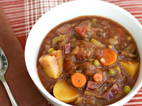 Hearty Midwestern Chili With Vegetables and Coffee
