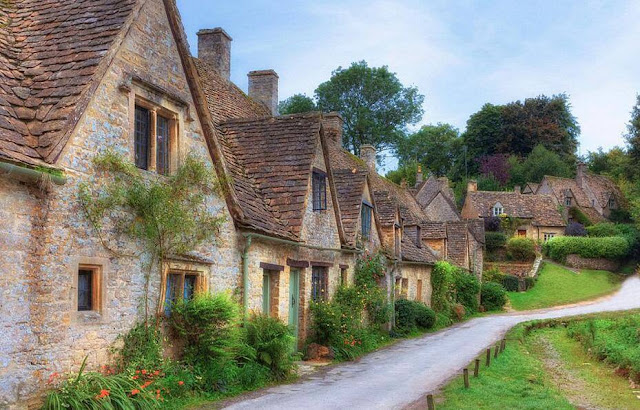 The Cotswolds village of Bibury, England