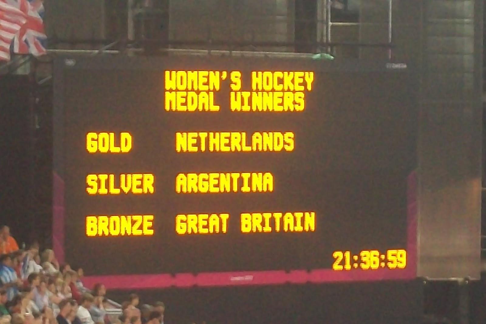 London 2012 Womens Hockey Final