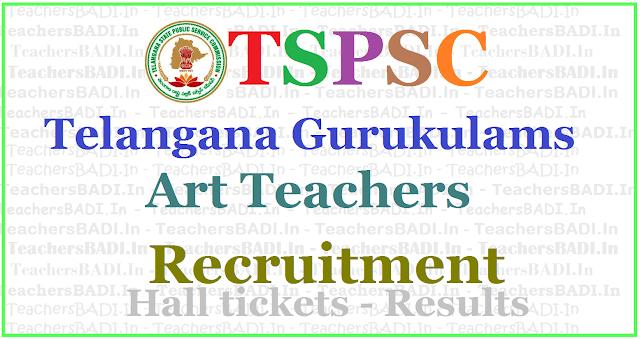 TSPSC Gurukulam Art Teachers Recruitment 2017, Apply online,hall tickets,results