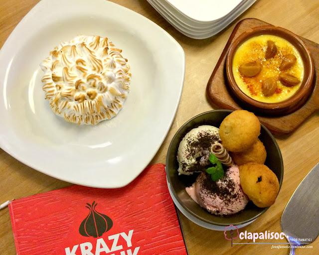 Desserts from Krazy Garlik