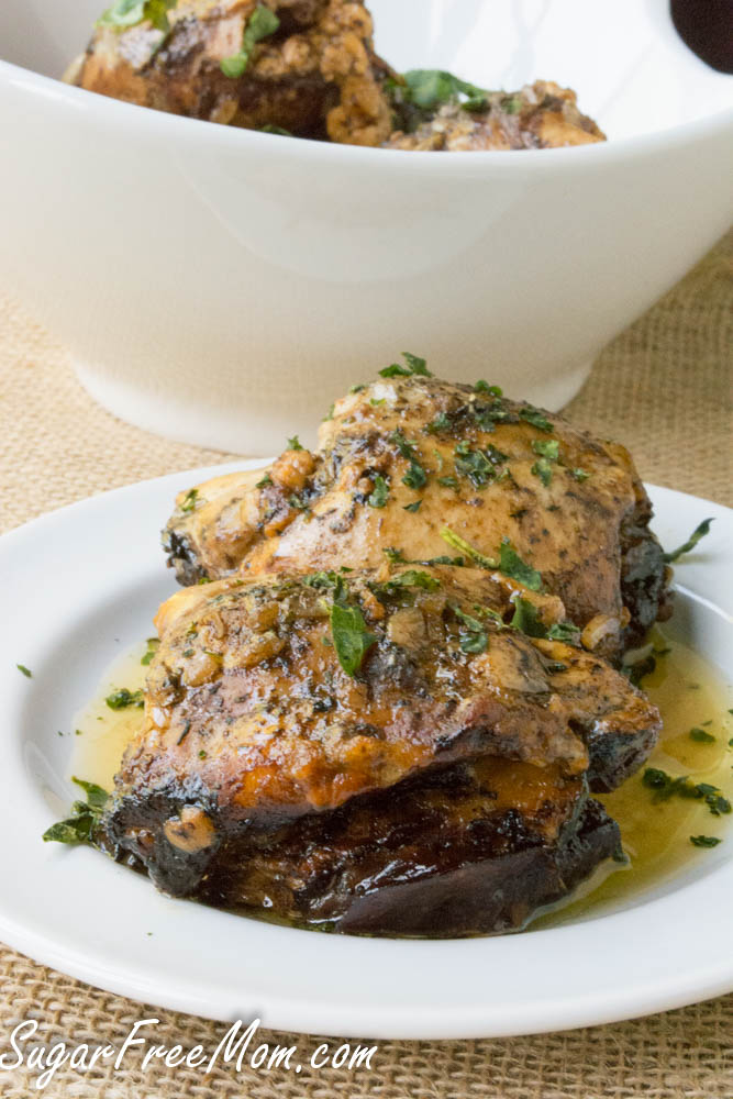 50 More Great Low Carb Slow Cooker Dinners Featured On Slowcookerfromscratch Com Slow Cooker Balsamic Caprese Stuffed Chicken Thighs