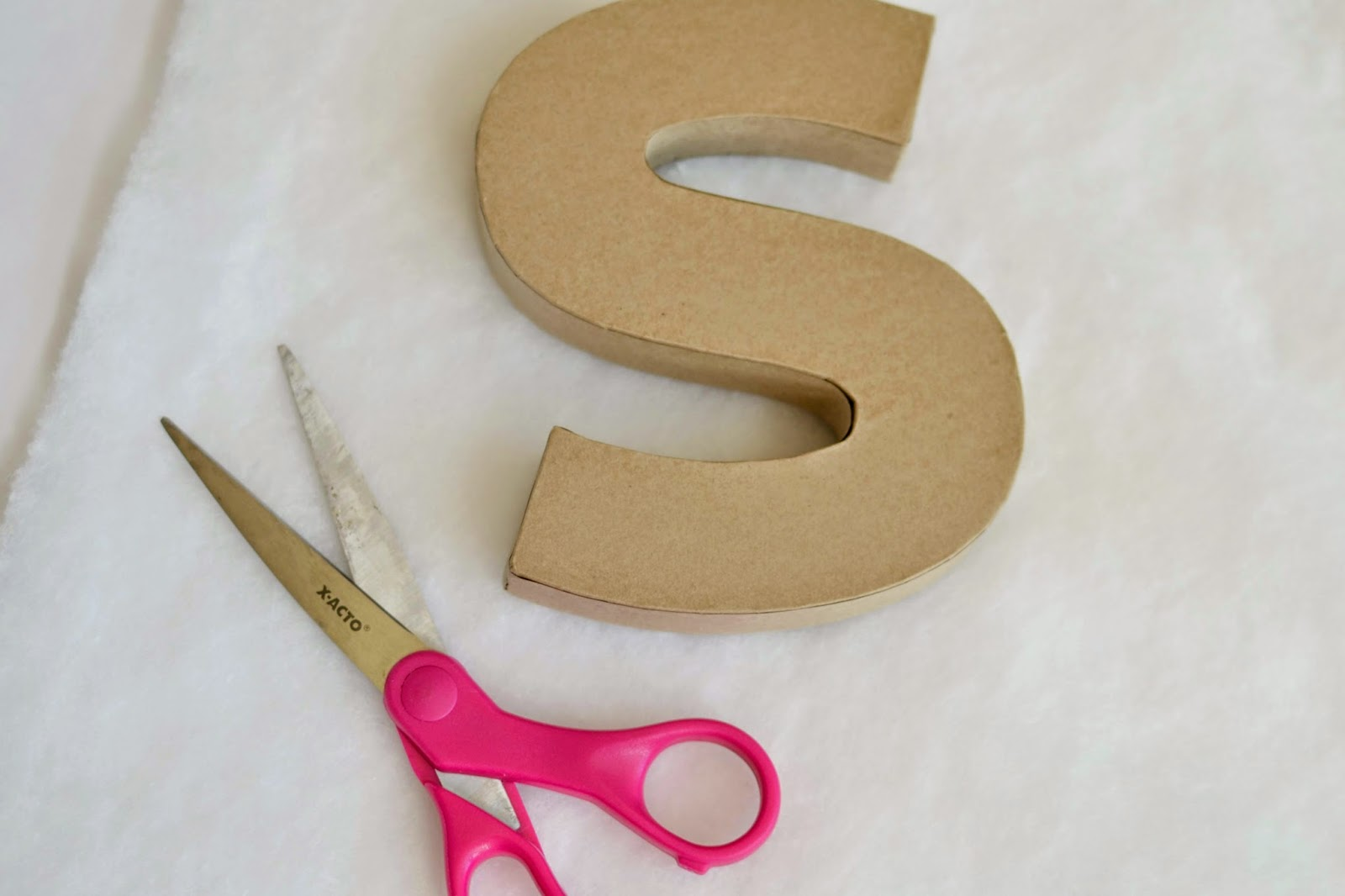 Mommy Testers How To Make Easy Fabric Covered Letters For