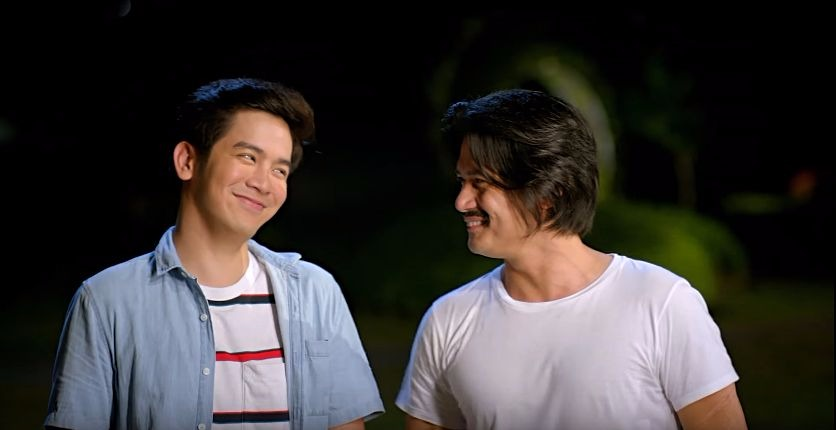 Joshua Garcia as Jason and Robin Padilla as Cocoy in 'Unexpectedly Yours'