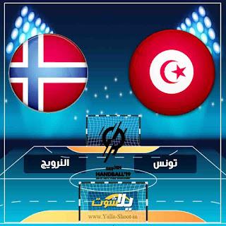 بث مباشر مشاهدة مباراة تونس والنرويج اليوم 11-1-2019 في كاس العالم لكرة اليد للرجال