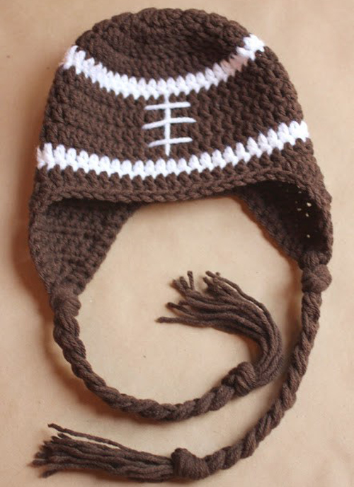 Football Earflap Hat - Free Pattern