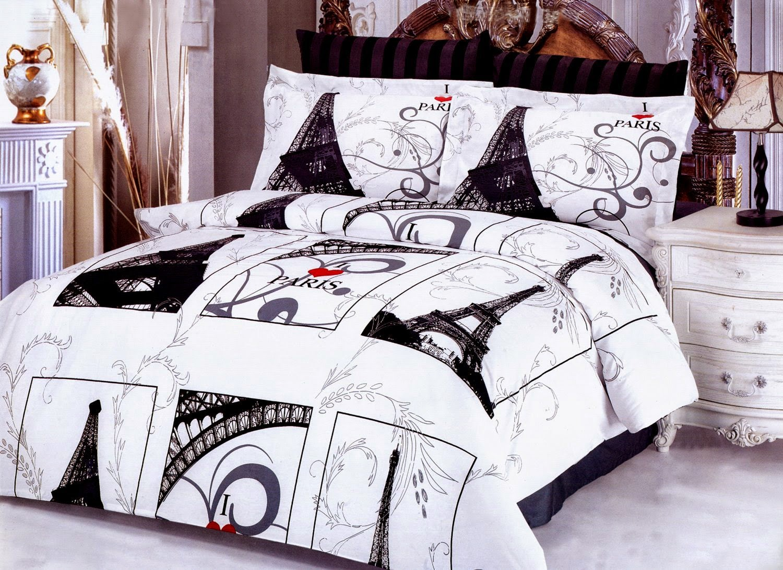 bedroom decor ideas and designs top ten paris themed bedding sets. Black Bedroom Furniture Sets. Home Design Ideas