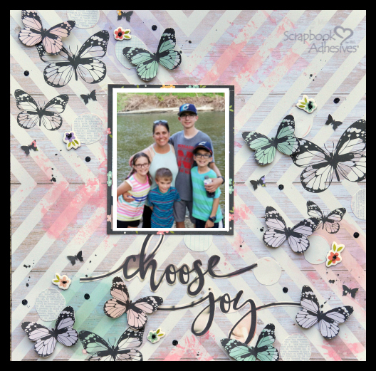 How to Modify Scrapbook Embellishments with Adhesive