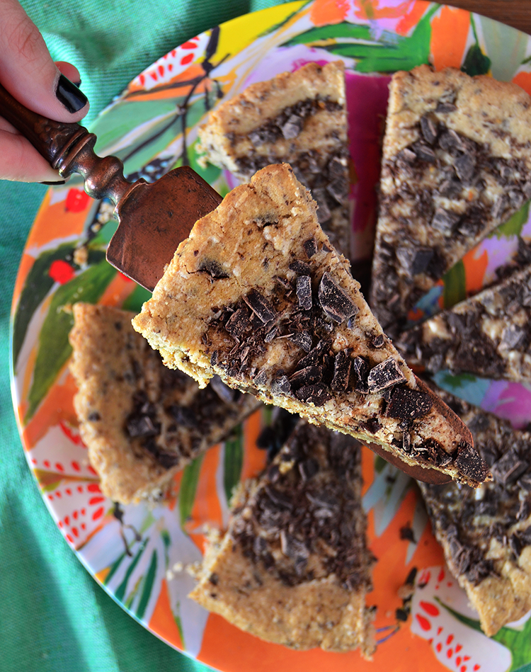 Cookie cake con chocolate