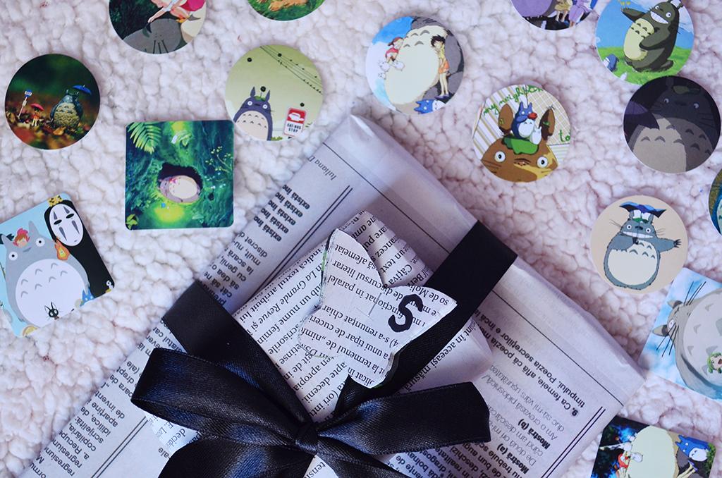 stickere totoro pachet ambalaj cadou