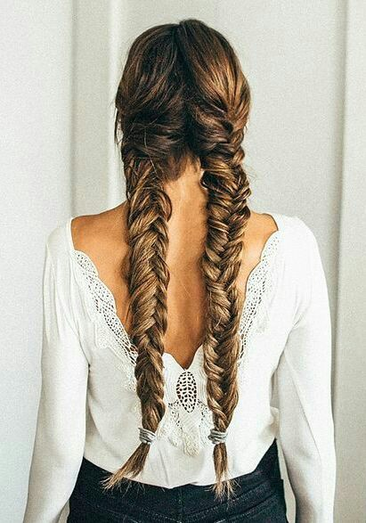 Double Fishtail hairstyle