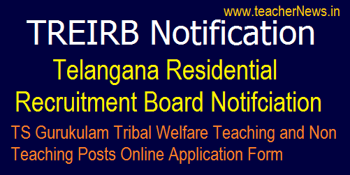TREIRB 863 Vacancies Notification for Telangana Gurukul Tribal Degree Colleges | TTWREIS Posts