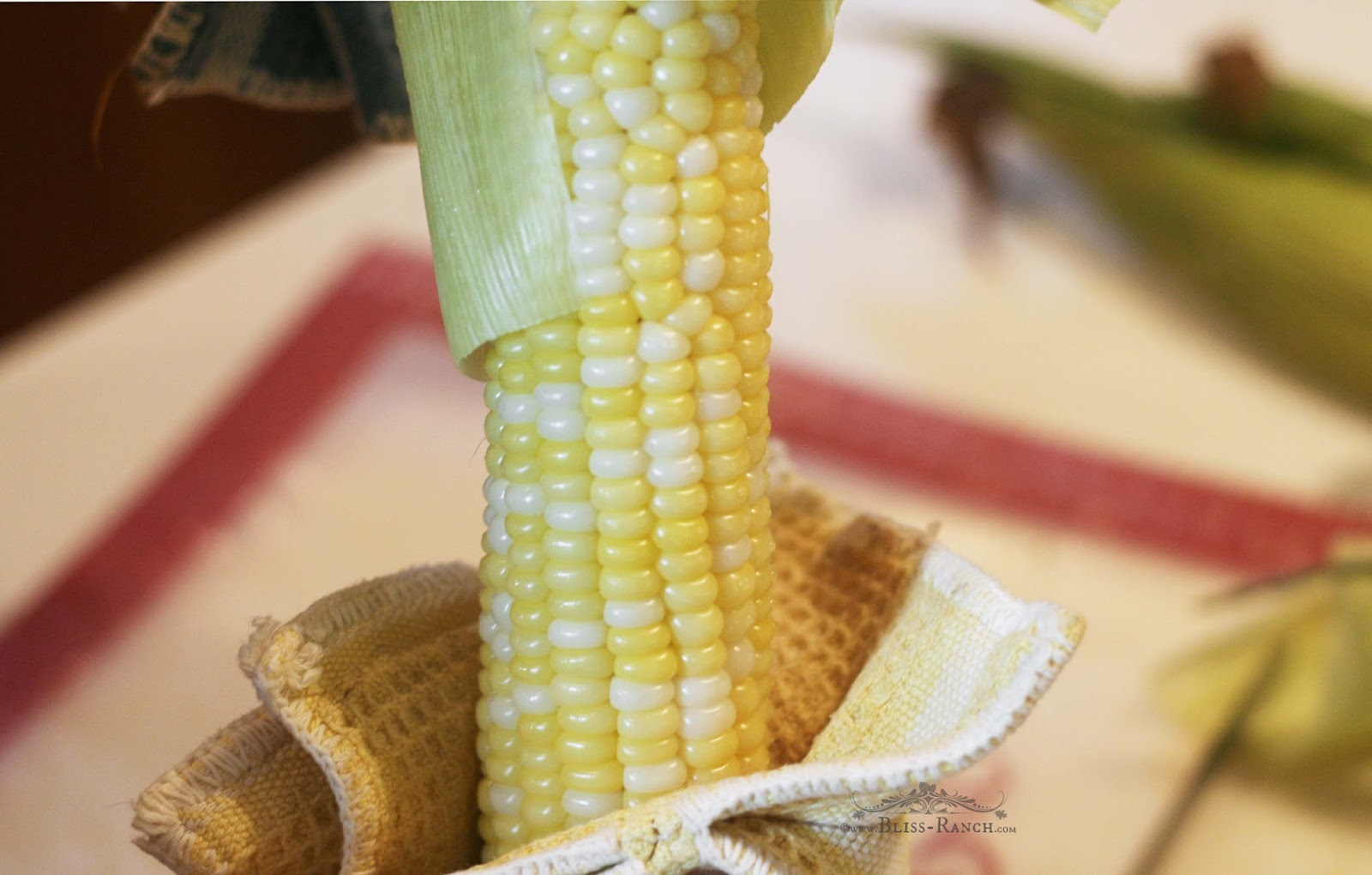 Corn on Cob in Husks for Microwave Bliss-Ranch.com