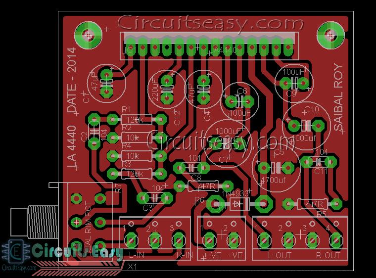 4440 AUDIO AMPLIFIER PCB DESIGN & MAKING