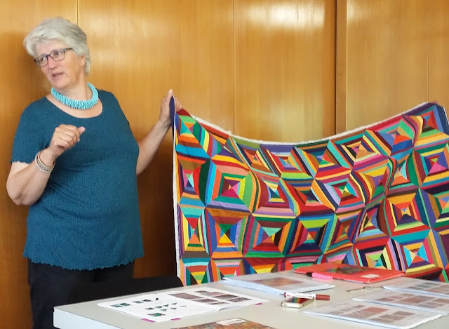Workshop with Maryline Collioud-Robert - Solid scrap quilt