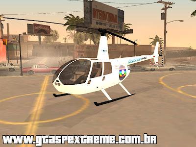 Helicoptero R44 raven II GLOBOCOP para GTA San Andreas