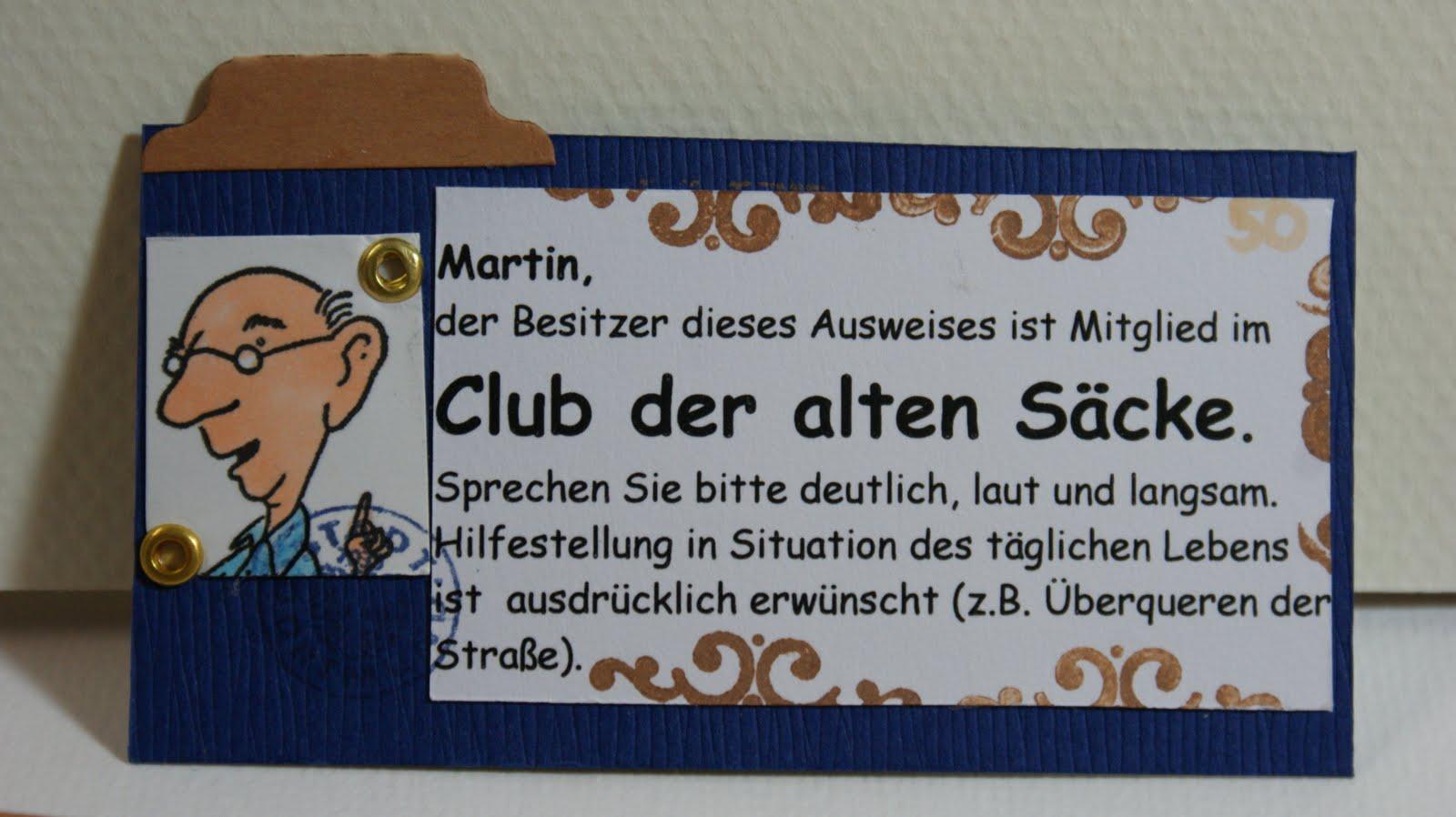 Außergewöhnlich Mitglied Im Club Der Alten Säcke.