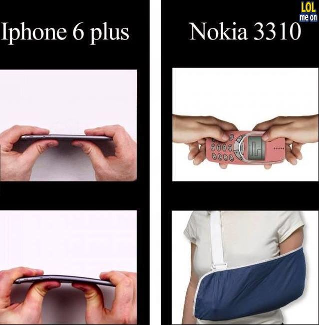 iphone 6 plus vs nokia 3310 - funny damn fact picture