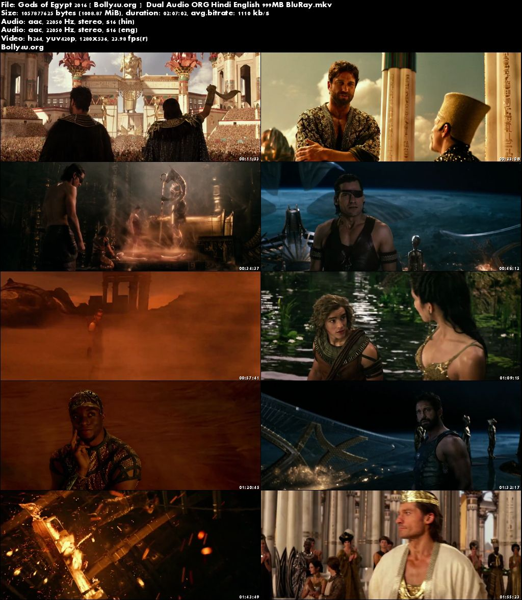 Gods of Egypt 2016 BluRay 999Mb Hindi Dual Audio ORG 720p Download