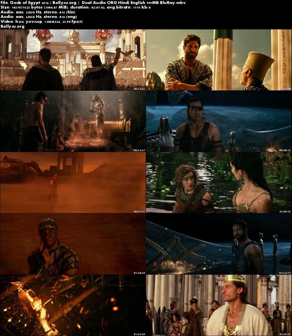 Gods of Egypt 2016 BluRay 999Mb Hindi Dual Audio ORG 720p Download