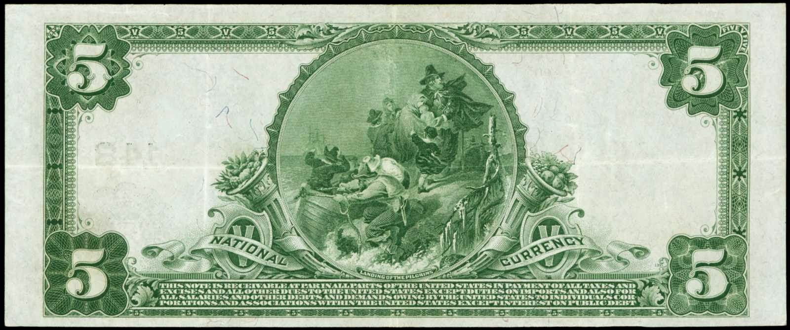 national bank note five dollar bill