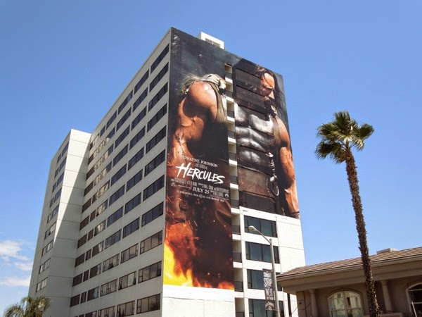 Giant Hercules movie billboard