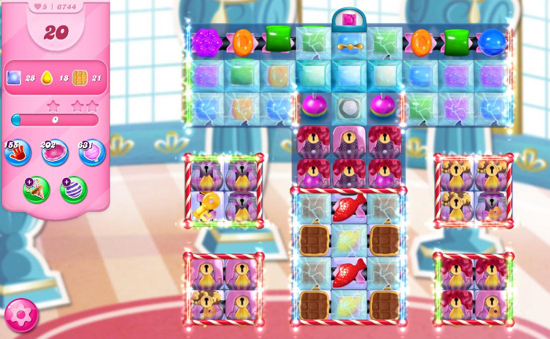 Candy Crush Saga level 6744