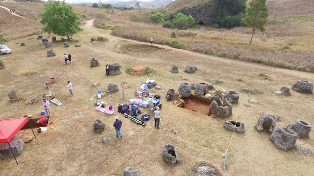Archaeologists use drones to trial virtual reality technology in Laos' Plain of Jars