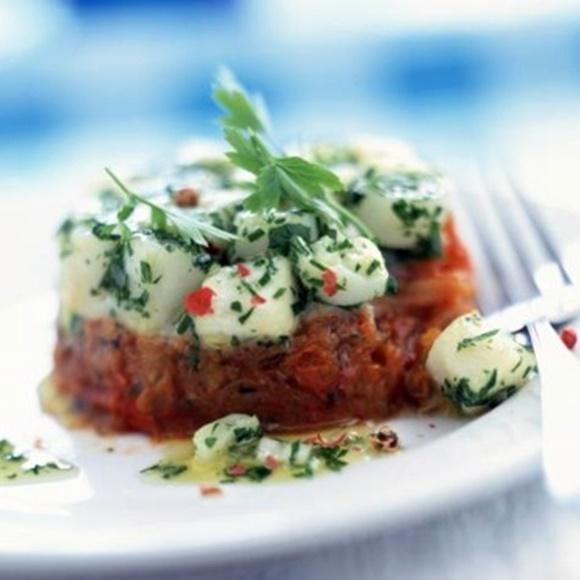 Tartare De Saint-Jacques Aux Tomates Confites