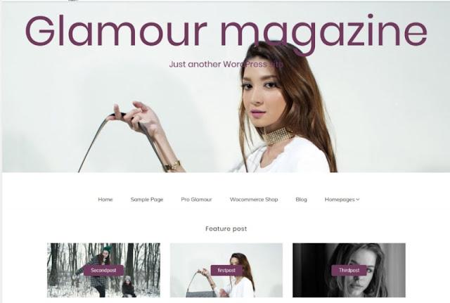 Glamour magazine шаблон для Wordpress 2019