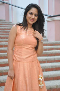 Actress Miya George Stills at United Kireeti Movies Ltd Production No 8 Movie Opening 0010.jpg