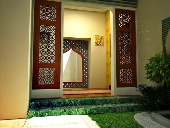 mushola minimalis di dalam rumah