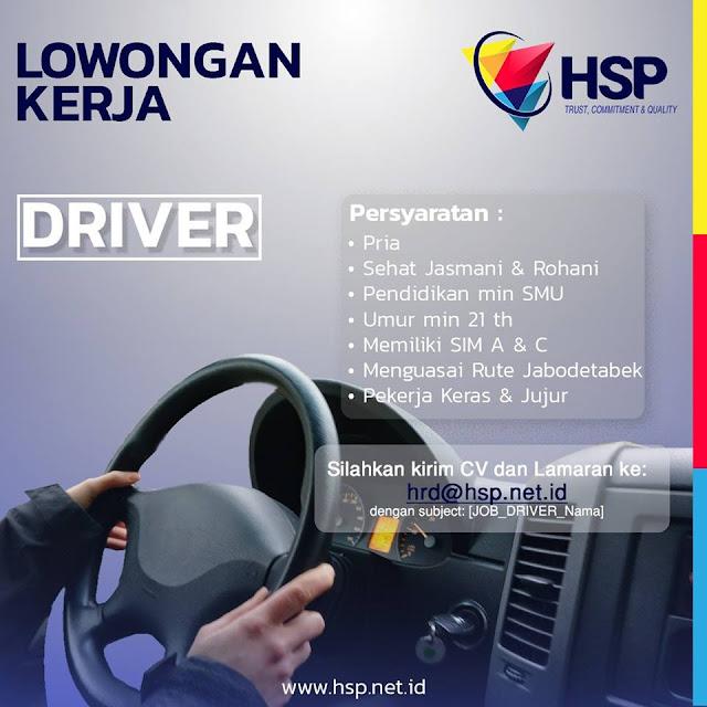 lowongan kerja driver HSP