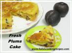 Freshly BakedPlums Cake