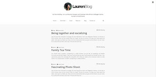 Lauren Blogger Template