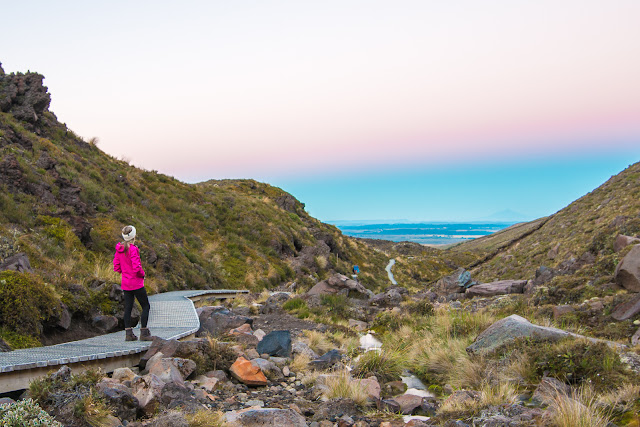 Dawn on the Tongariro Crossing