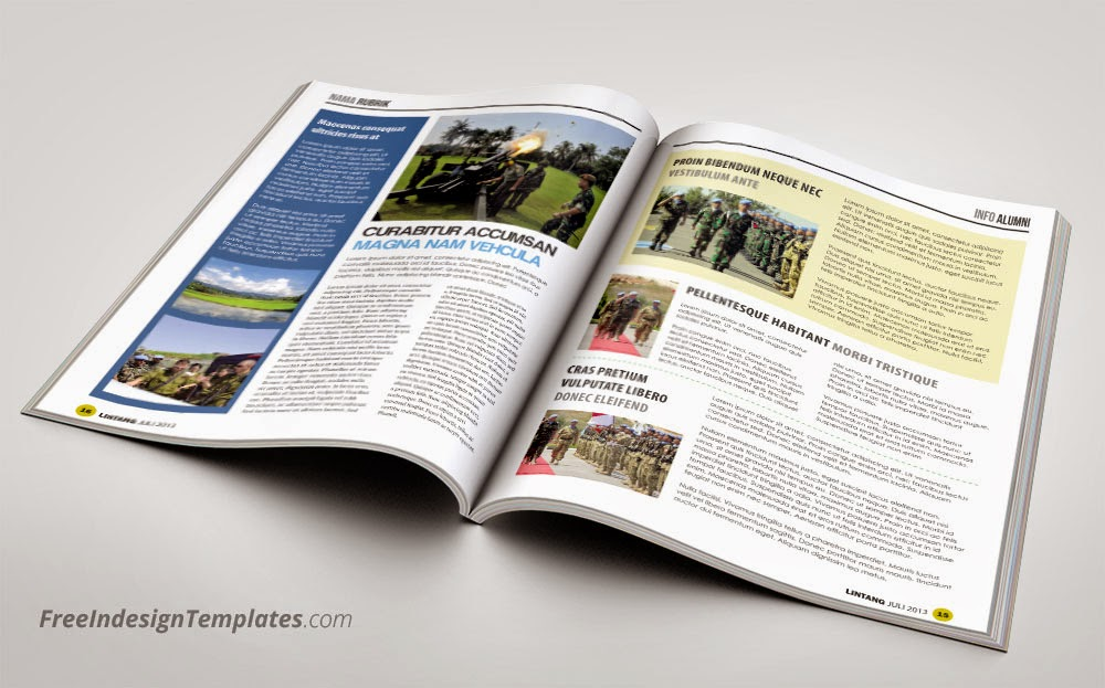 Free InDesign Simple Magazine Template #1 Free InDesign Templates - free indesign template