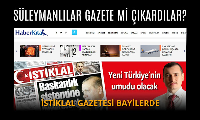 süleymanlılar, hüseyin çakmak, istiklal gazetesi, haber kıta, Mehmet Fahri Sertkaya, ali eren, nurettin yıldız, emine şenlikoğlu,