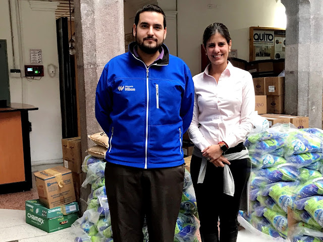 Jabonería Wilson entregó donación para afectados por terremoto en México