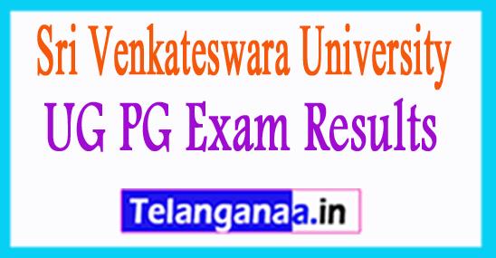 SVU Results 2017 Sri Venkateswara University Results 2018