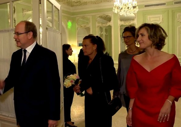 Prince Albert and Princess Stephanie at Ecoute Cancer Réconfort's gala dinner at Monte-Carlo Hermitage Hôtel, Monaco