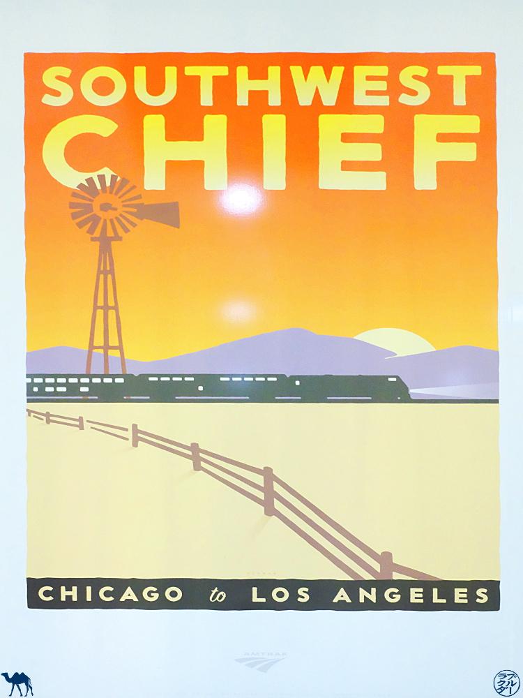 Le Chameau Bleu - Blog Voyage Amtrak  -  Affiche du  Southwest Chief Train