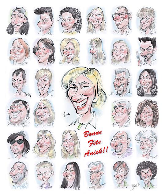 caricatures, caricaturistes, affiche, montage, montreal, quebec, live, direct, souvenir, cadeau