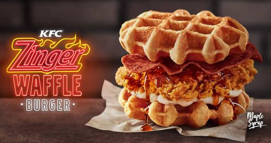 Follow Me To Eat La Malaysian Food Blog Kfc Zinger Waffle Burger