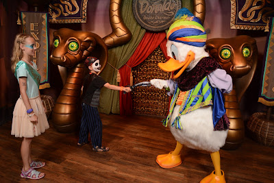 Meeting Donald in Magic Kingdom